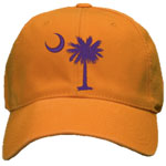 Embroidered Clemson Palmetto Hat