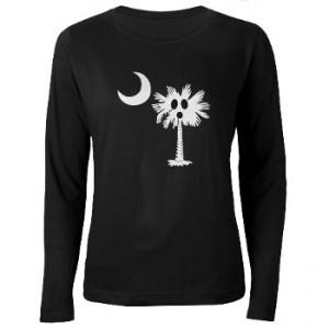 Ghost Palmetto Women's Long Sleeve Dark Shirt